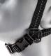 Podbradní textilní 4 bodový pásek pro ochrannou přilbu E-MAN, C6, E6, RANGER nastavitelný zapínací spona černý
