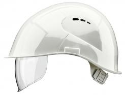 Přilba VOSS VISOR LIGHT krátký kšilt prodloužení do týla boční ventilace integrovaný oční zorník bílá