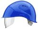 Přilba VOSS VISOR LIGHT krátký kšilt prodloužení do týla boční ventilace integrovaný oční zorník modrá