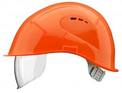 Přilba VOSS VISOR LIGHT krátký kšilt prodloužení do týla boční ventilace integrovaný oční zorník oranžová