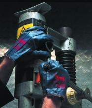 Rukavice Ansell HYNIT sešité z textilu pokrytým nitrilovým kaučukem velikost 10