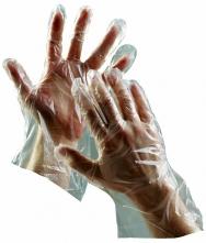 Rukavice CERVA DUCK jednorázové polyetylénové 100 ks čiré