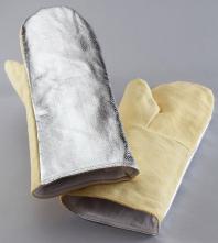 Rukavice palcové tepluodolné pokovené 600°C délka