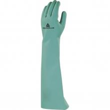 Rukavice DELTA PLUS NITREX 846 nitrilové 460 mm tloušťka 0,55 mm vnitřní flokování bavlnou zelené