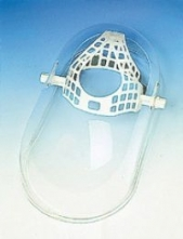 Ochranný obličejový vaničkový štít OKULA ŠP 15 včetně jednoduchého hlavového držáku plexisklo délka 250 mm čirý