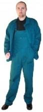 Montérkový komplet STANDARD blůza a kalhoty s laclem a šlemi tmavě zelený