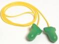 Tlumící zátky HOWARD LEIGHT MAX LITE paměťová PU pěna balení jednotlivě žluté spojovací vlákno zelené