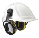 Mušlové chrániče Hellberg SECURE 2C na přilbu SNR 29 výškově nastavitelné černo/žluté