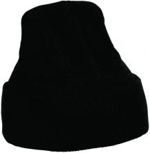 Pletená pracovní čepice CERVA MESCOD tvar rohatka přehrnutý okraj černá