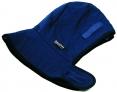 Kukla fleecová teplá CLASIC upínání do ochranné průmyslové přilby modrá