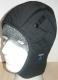 Kukla UNIVERN do přilby zateplená s páskem pod bradu možnost upevnění do přilby černá