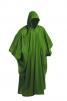 Pončo PVC velké pevná kapuce zelené