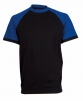 Tričko OLIVER ORION bavlna 180g černo/modré velikost XXXL