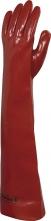 Rukavice VENITEX 600 bavlněný úplet máčený v PVC dlouhé 60 cm červené velikost 10