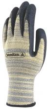 Rukavice Delta Plus VENICUT52 protiřezné úplet HEATNOCUT® latexový potah v dlani pružná manžeta žluto/černé
