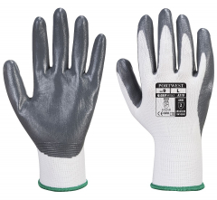 Rukavice Flexo Grip nylonový úplet povrstvený nitrilem šedo/bílé velikost L