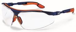 Brýle UVEX i-vo straničky modro/oranžové odolné poškrábání čiré