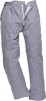 Kalhoty PW Barnet Chefs částečně elastický pas poutka na opasek 100% bavlna kuchařské vzor pepito tmavě modro/bílé