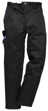 Kalhoty PW COMBAT LADY dámské do pasu s kapsami PES/BA částečně elastický pas černé