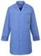 Antistatický pracovní plášť ESD s kapsami a nastavitelnými rukávy nemocniční modrá velikost XL