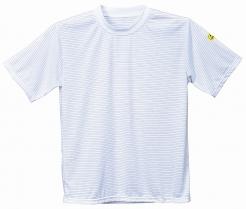 Antistatické pracovní tričko PW ESD kulatý průkrčník krátký rukáv bílé
