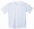 Antistatické pracovní triko ESD kulatý průkrčník krátký rukáv bílé velikost XL