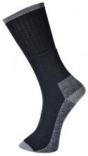 Ponožky pracovní PW SKATE akryl/nylon/PES balení 3 páry zesílené paty a špice černo/šedé