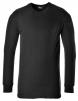 Tričko TERMO KLASIK BA/PES žebrovaný úplet dlouhý rukáv kulatý průkrčník černé