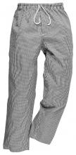 Kalhoty PW BROMLEY CHEFS elastický pas na šňůrku 100% bavlna kuchařské vzor pepito černo/bílé