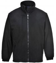 Bunda PW BUILDTEX™ se stojáčkem laminovaný fleece kapsy u pasu náprsní kapsa zapínání na zip černá