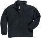 Mikina PW YUKON fleece prošívaná zateplená kapsy u pasu zapínání na zip černá