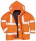 Bunda PW TRAFFIC 4v1 Hi-Vis kapuce vyjímatelná vložka reflexní pruhy zateplená nepromokavá HV oranžová