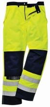 Kalhoty BIZFLAME MULTI do pasu antistatické elektroodolné nehořlavé výstražné svítivě žluté/tmavě modré velikost XL