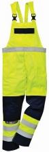 Kalhoty BIZFLAME MULTI laclové antistatické elektroodolné nehořlavé výstražné svítivě žluté/tmavě modré velikost XL