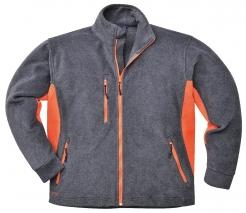 Mikina PW Texo Heavy flísová 400 dvoubarevná šedo/oranžová