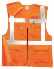 Vesta Executive výstražná s kapsami vysoce viditelná oranžová velikost XL