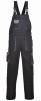 Montérkové kalhoty PW TEXO Contrast s náprsenkou šle BA/PES černo/šedé