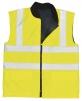 Vesta PW REVERSIBLE oboustranná zateplená výstražná reflexní pruhy vysoceviditelná žlutá