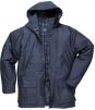 Bunda PW DUNDEE PES/PVC kapuce podšívka z bavlny zateplená nepromokavá tmavě modrá