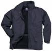 Bunda PW ARBROATH PES mikrovlákno/PU podšívka fleece kapuce v límci tmavě modrá