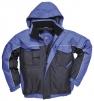 Bunda PW RS DUO TONE bomber do pasu PES/PVC krytý zip reflexní linka voděodolná tmavě modro/světle modrá