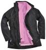 Dámská bunda ELGIN 3 v 1 dámská černo/růžová velikost M