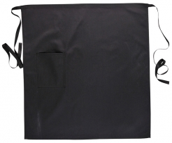 Zástěra Gastro Pocket Klasik s kapsou do pasu 71 x 76 cm černá