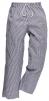 Kalhoty PW BROMLEY CHEFS elastický pas na šňůrku 100% bavlna kuchařské vzor pepito prodloužené tmavě modro/bílé
