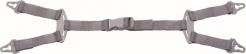 Podbradní pásek DYNAMIC 4 bodový pro ochrannou přilbu QUARTZ, ZIRCON, DIAMOND šedý