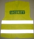 Vesta SECURITY modrý potisk výstražná žlutá velikost S-M