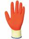 Rukavice PW GRIP A100 úplet PES/bavlna potažený latexem protiskluzné oděruvzdorné žluto/oranžové