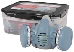 Ukládací plastový box SCOTT MINI s víkem pro masku a polomasku šedý