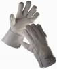 Rukavice STILT celokožené hovězí lícovka/štípenka manžeta 7 cm světle šedé