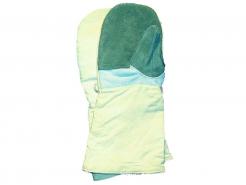 Ochranné pracovní pekařské kožené rukavice TARO LONG tepelně isolované impregnované volná manžeta délka 39 cm šedé